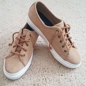 Sperry Tan Suede Sneakers